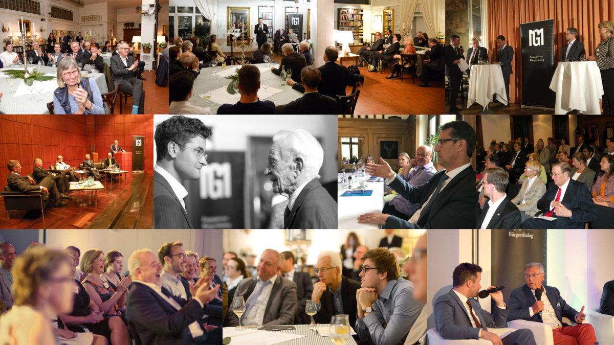 Collage · Seniorendialoge in Frankfurt : Die wichtigsten Themen im Alter